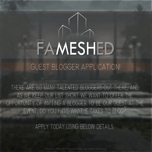 FaMESHed Guest Blogger January
