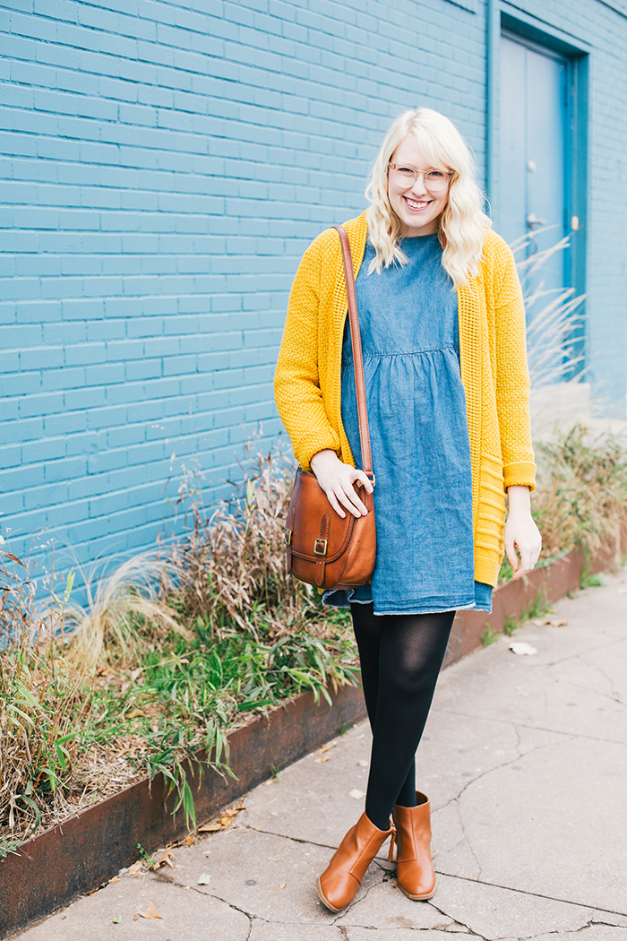 austin style blogger asos smock dress yellow sweater6