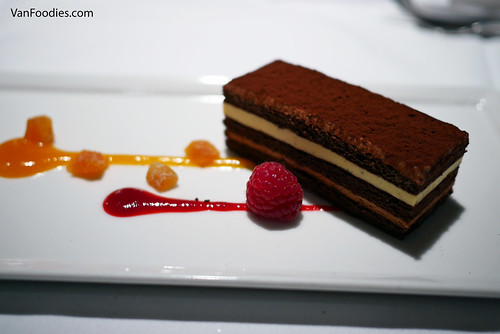 Chocolate and Apricot Mousse Layer Cake