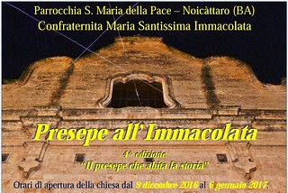 Noicattaro. Presepe all'Immacolata 2016 front