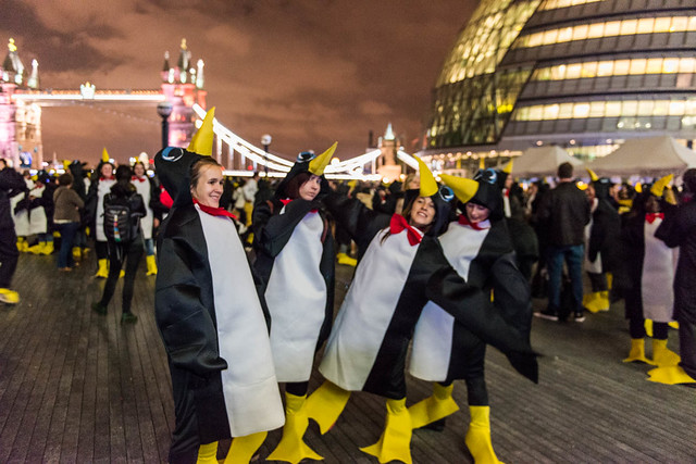 Richard House Penguin Waddle (Thursday 12th November 2015), City Hall, London