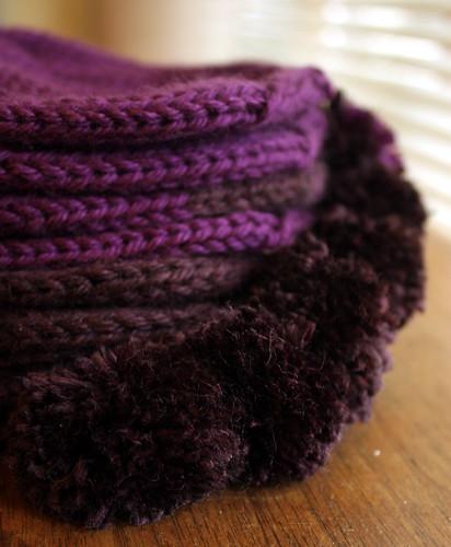 Purple Hat Pompoms