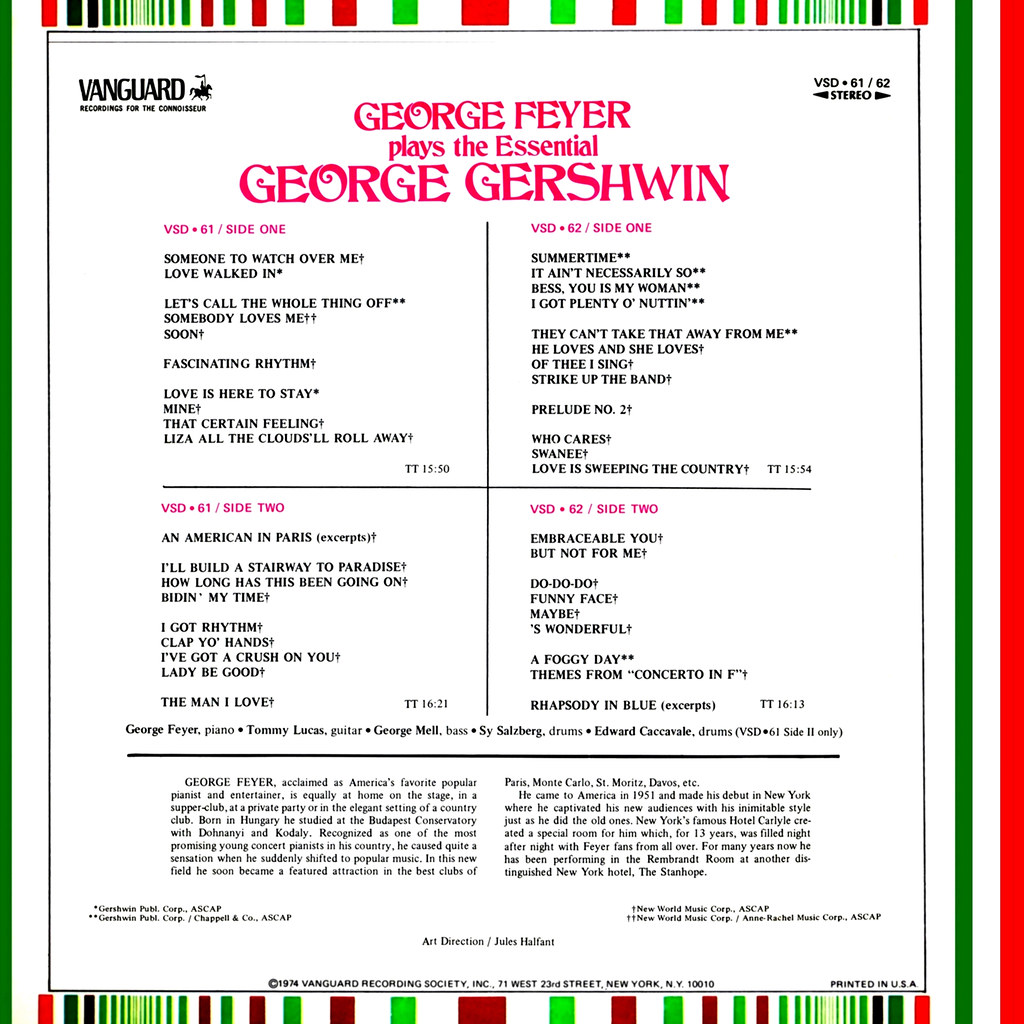 George Feyer Plays The Essential George Gershwin