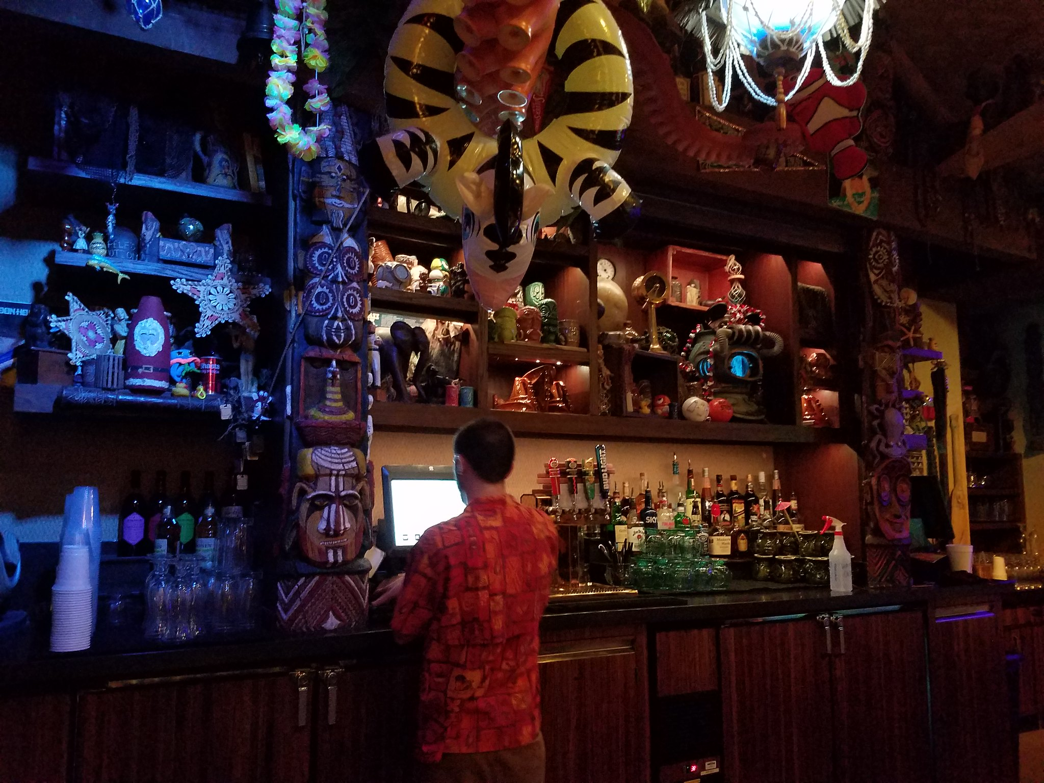 Enchanted tiki lounge