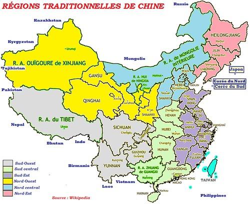 Chine - Régions