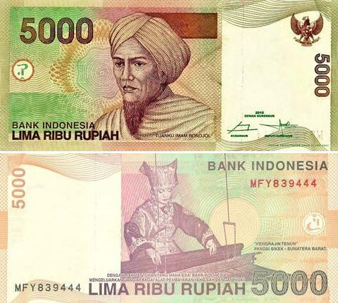 5000 Rupií Indonézia 2015, P142o