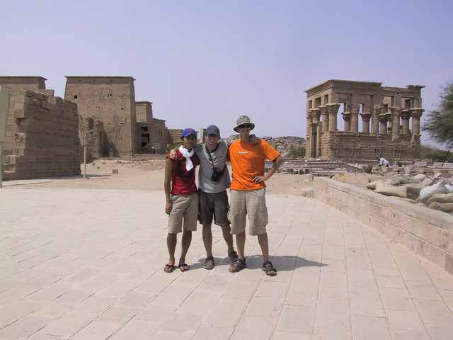 Japanese guy, Rob, Hubbers, Philae, Egypt