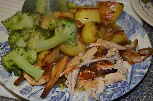 roast chicken dinner Jan 17