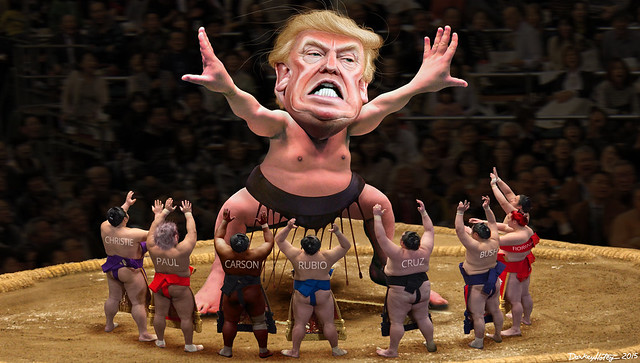 Yokozuna Trump Towers Over His Challengers