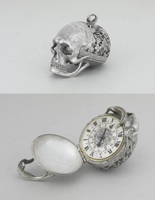 Jean Rousseau skull watch from the 17th century