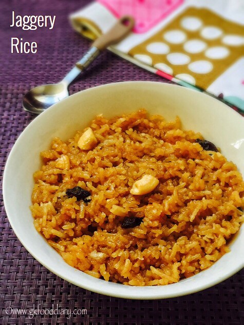 Jaggery Rice Recipe for Toddlers and Kids