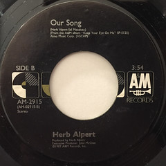 HERB ALPERT:KEEP YOUR EYE ON ME(LABEL SIDE-B)