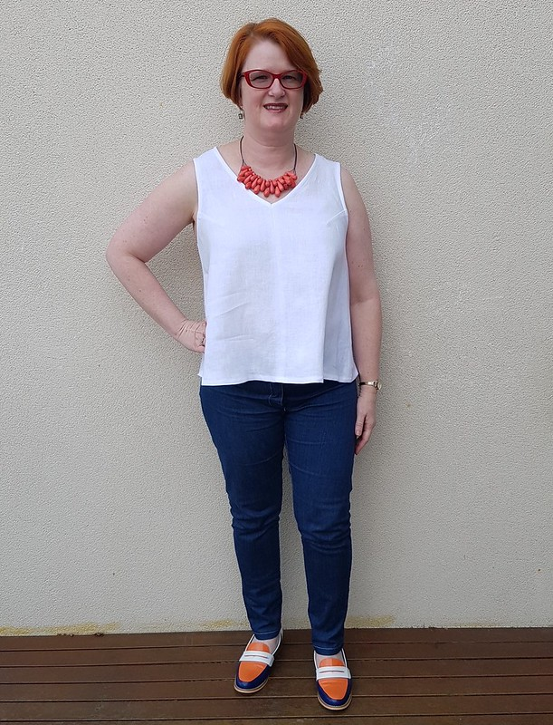 Style Arc Vicki top in Merchand and Mills linen