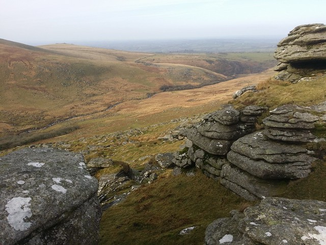 The West Okement from Black Tor (Okehampton)