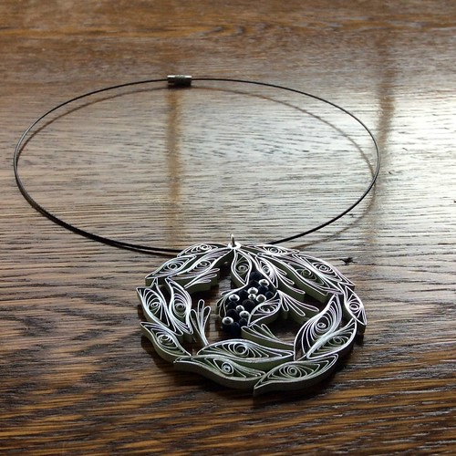 Quilled Pendant on Necklace Wire
