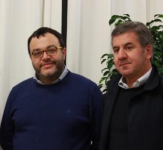 Gianvito Altieri e il sindaco Romagno