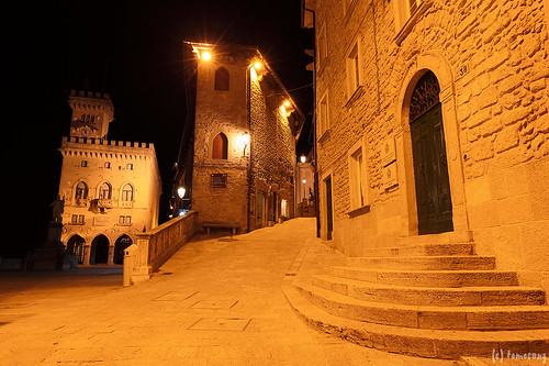 Repubblica di San Marino at night
