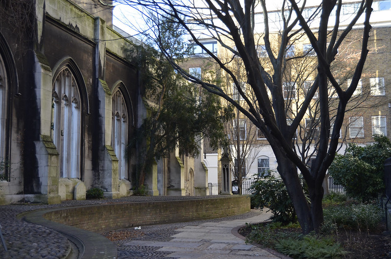 St Dunstan in the East London garden