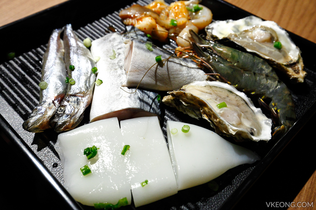 KG Korean Charcoal BBQ Buffet Seafood Set
