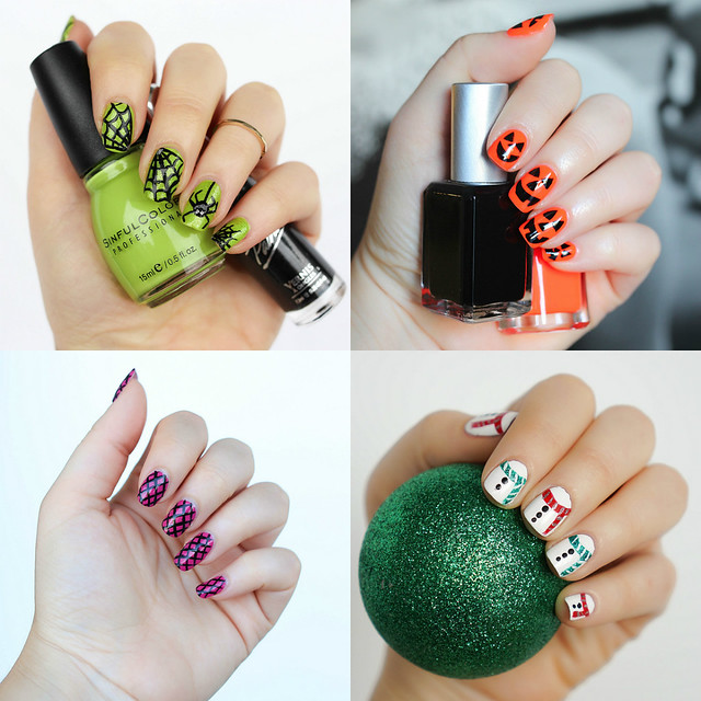 Halloween Holiday Nail Art Inspiration Best of 2016