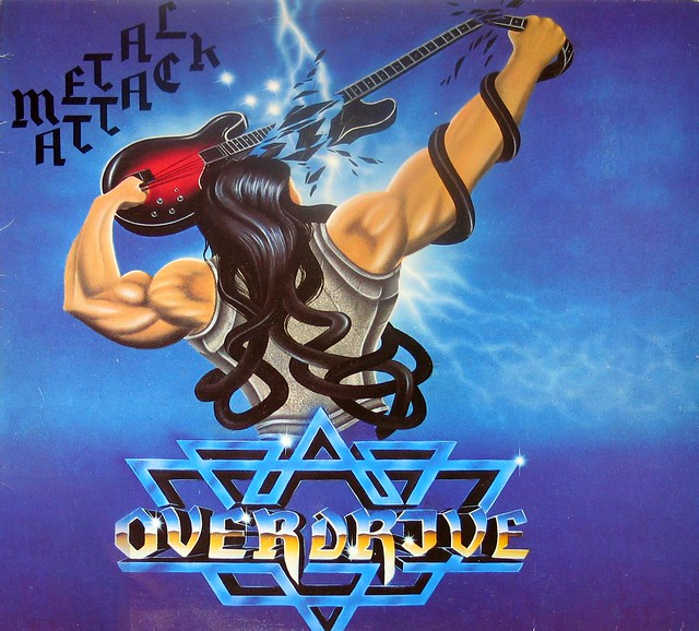 "OVERDRIVE Metal Attack 12"" vinyl LP"