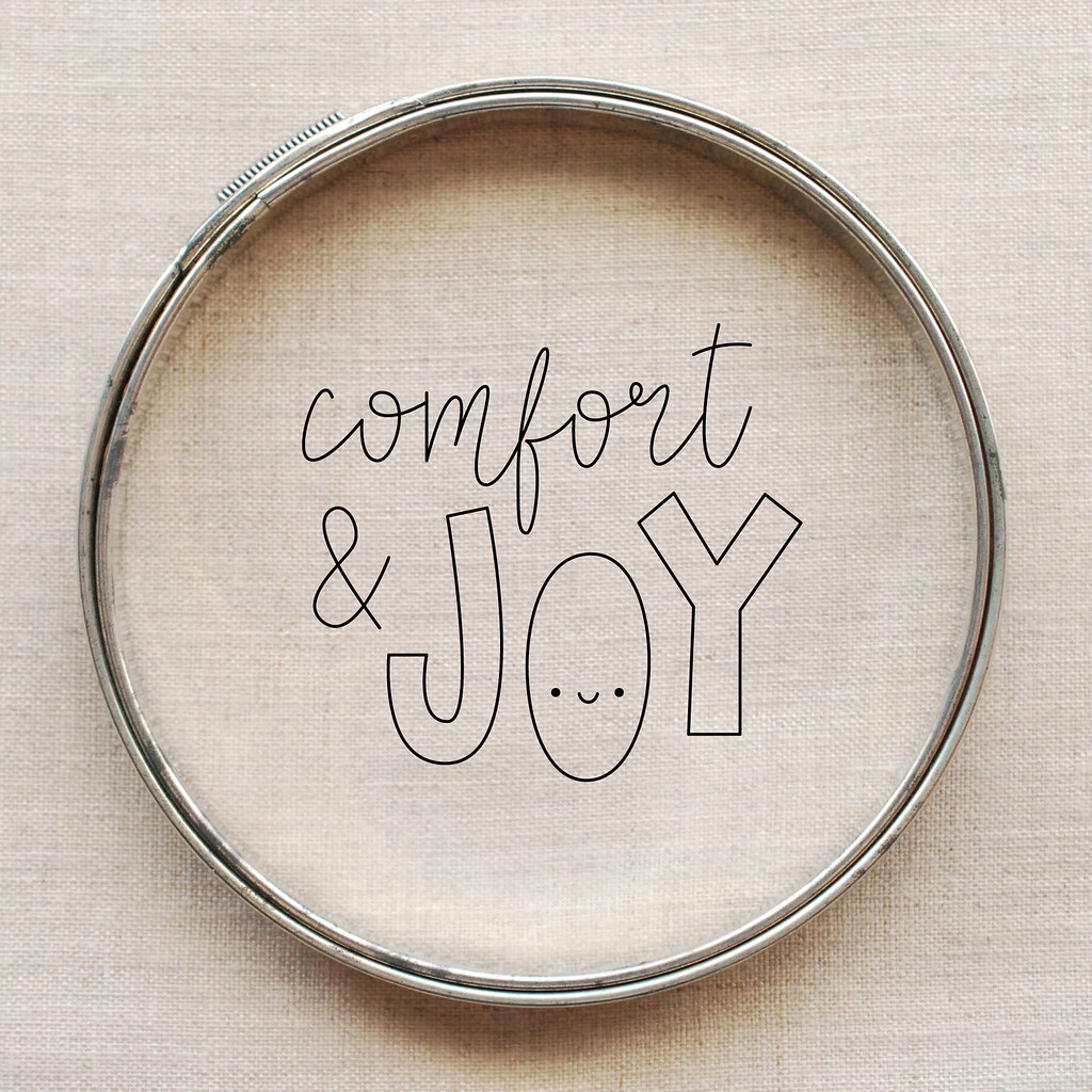 Comfort & Joy // embroidery pattern