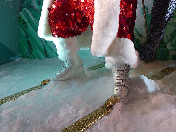 les skis du père Noël