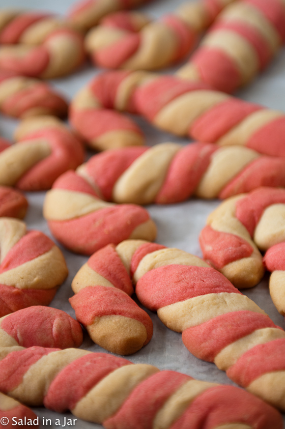 Candy Cane Cookies--A tradition in our family