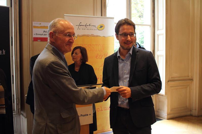 Philippe Wahl et Alexandre Seurat - Prix Envoyé par la Poste au Centre National du Livre