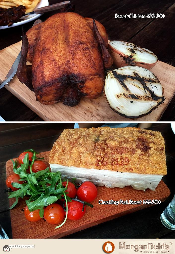 Morganfields Christmas 2016 Roast Chicken and Crackling Pork Roast