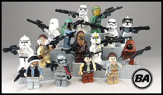 Upgrade your Star Wars LEGO Weapons with the BrickArms Blaster Pack.