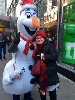 My Mom and Olaf in NYC