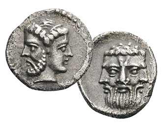 Janiform Heads on coin