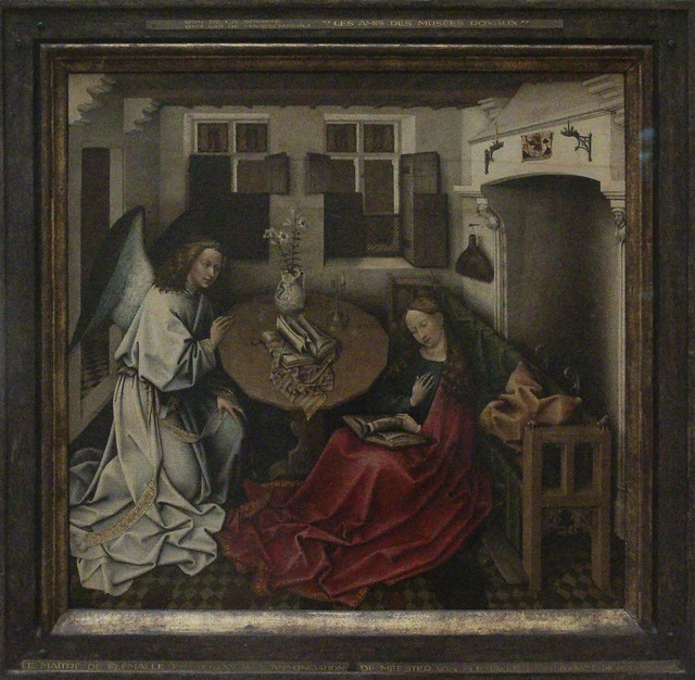 Annunciation, Master of Flemalle, ca 1375-1444