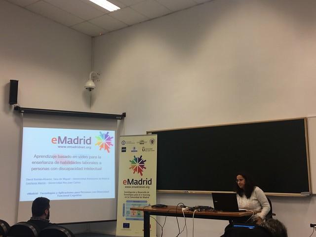 """16-12-2016 Seminario eMadrid sobre """"Tecnologías y Aplicaciones para Personas con Diversidad Funcional Cognitiva"""""""
