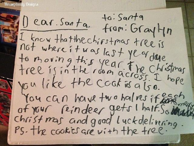 Graylyn's Letter to Santa