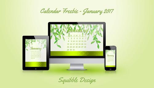 Calendar Freebie January 2017
