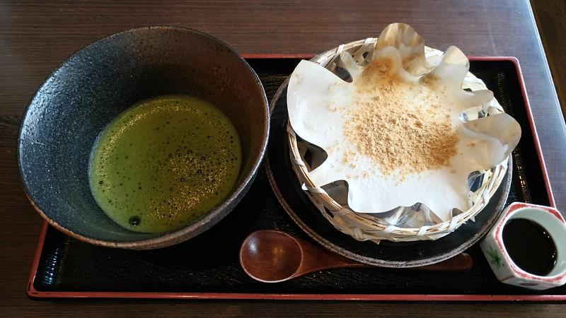 一条寺中谷 抹茶とざるわらび