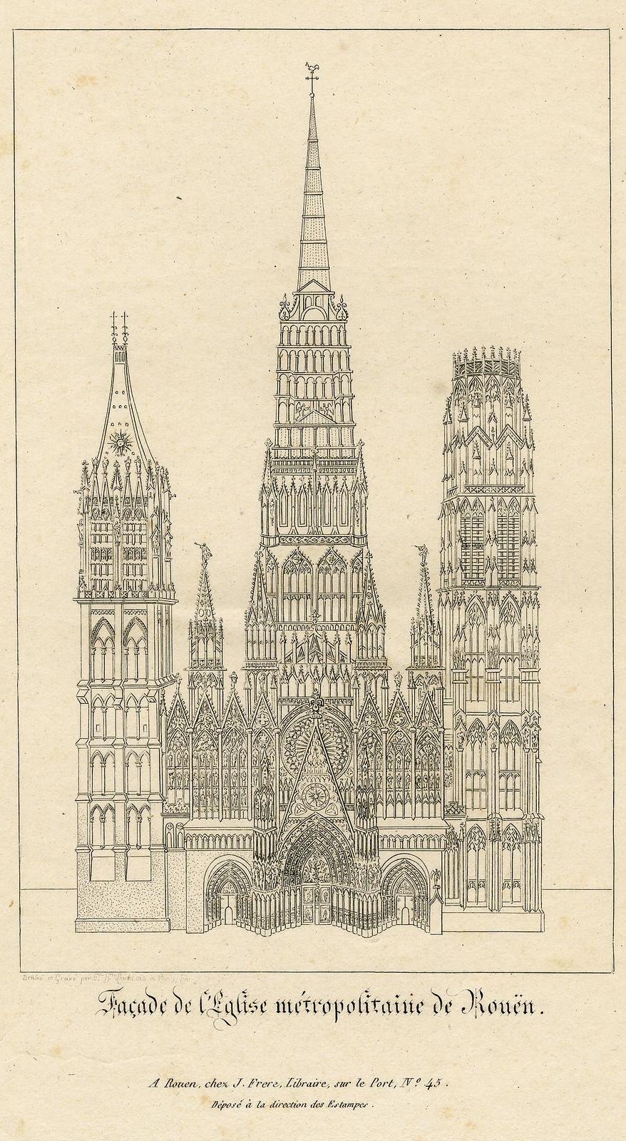 Facade de l'Eglise metropolitaine de Rouen