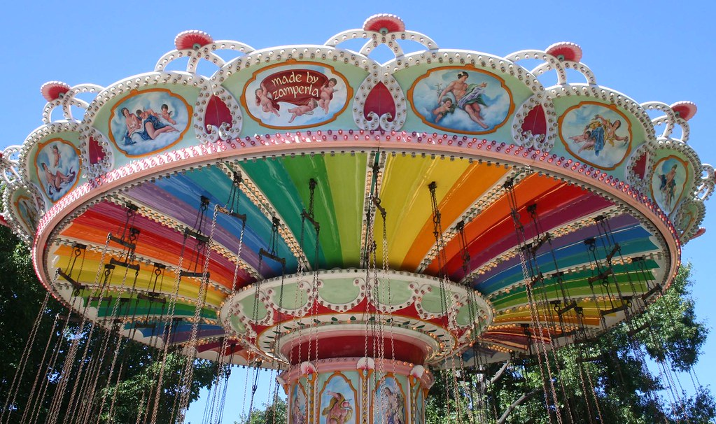 Carousel at Six Flags America. Photo: David, CC.