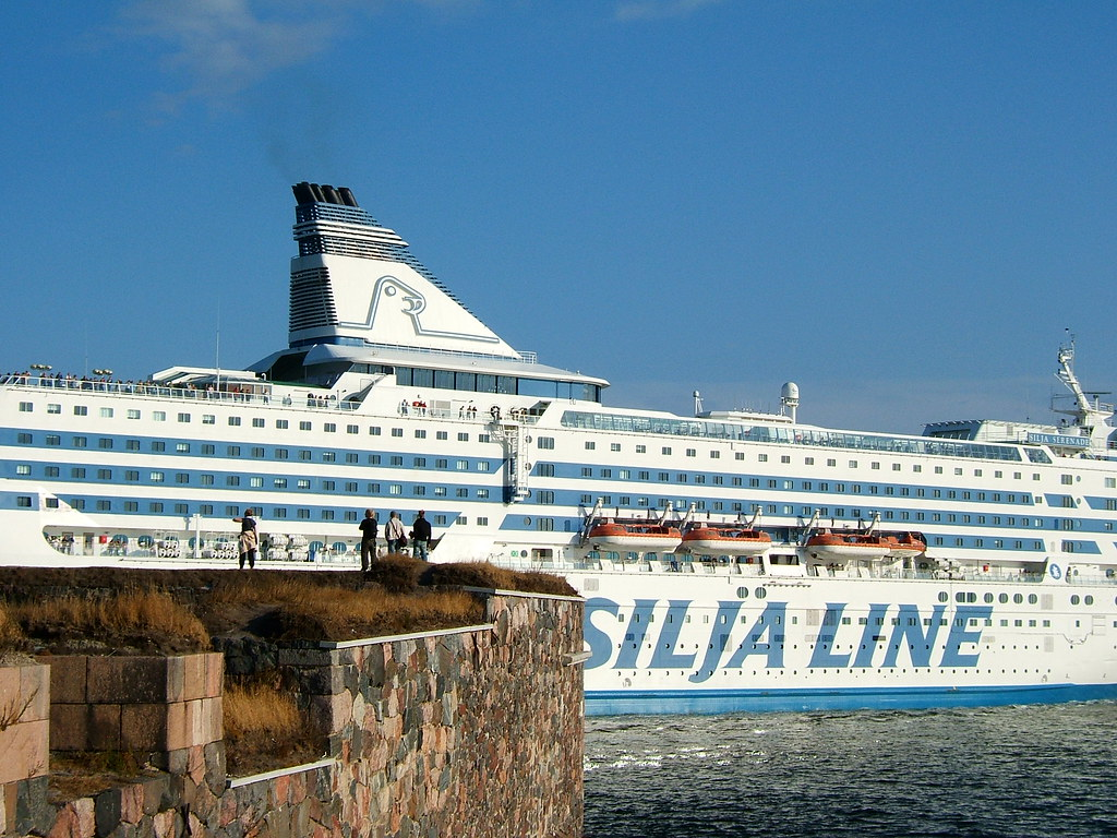 Silja Line ship at Kustaanmiekka