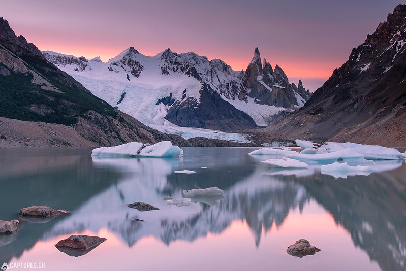 Dusk at the Laguna Torre - El Chalten