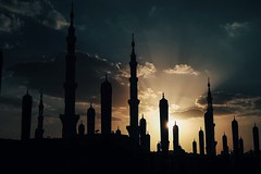 Silhouette of Prophet Muhammad's Mosque (Masjid Nabawi Al Munawarah)