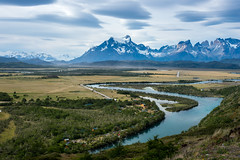 """""""Cuernos del Paine"""" from Cabanas del Paine, Torres del Paine National Park, Chile"""
