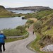 181-20180511_Tarbet Road Walk-Sutherland-descending road beside Loch Dubh into Tarbet-Sound of Handa & Handa Island beyond