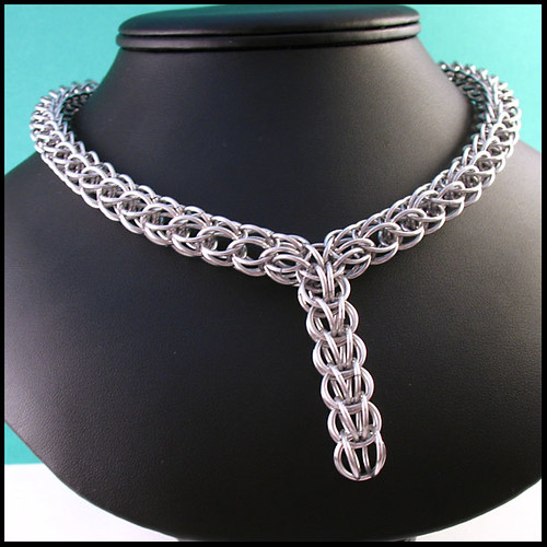 Persian Chainmaille Necklace Full Persian Chainmaille Neck Flickr