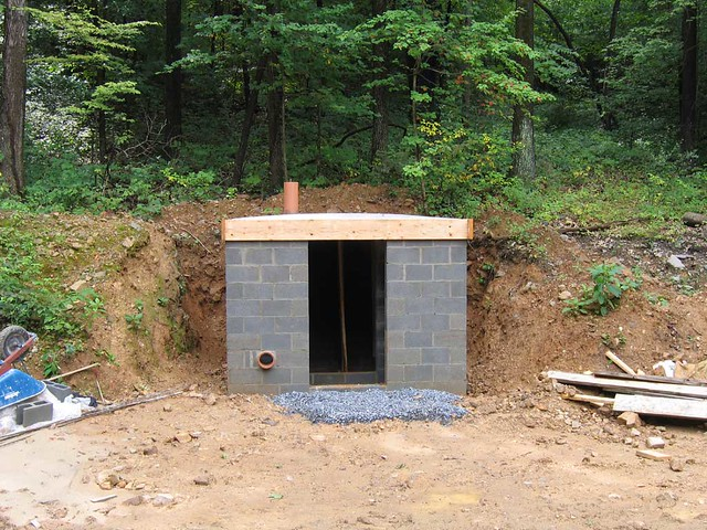 Old Style Root Cellar Roof Goes On The Forms Are Still