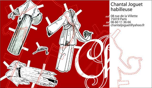 Chantal JOGUET Carte De Visite Lhabilleuse 75