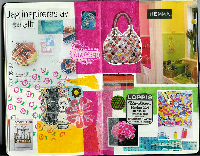 First diary collage