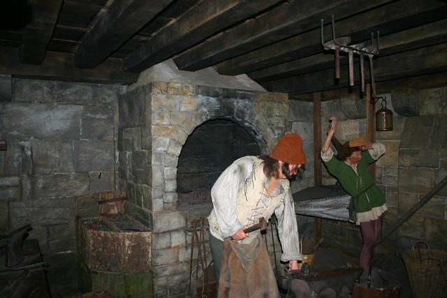 """Medieval Blacksmith   These """"smithies"""" (blacksmiths) work ..."""